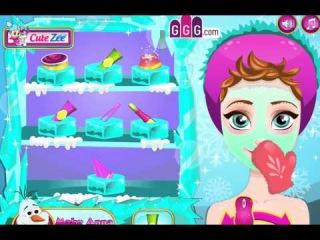 Игра Холодное сердце макияж и одевание