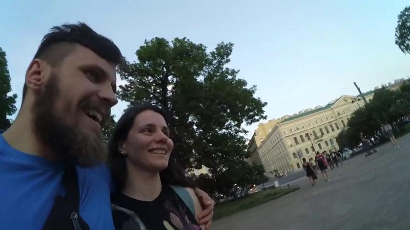 Исаакиевский собор Александровский сад Невский вечером