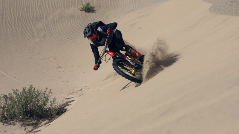 Mountain Biking on the World Highest Sand Dune