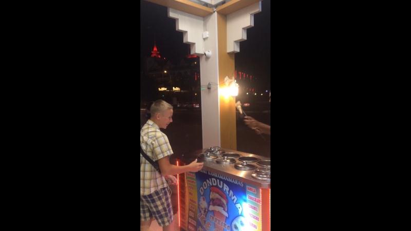 Турецкое мороженое ВкусноВесело детям развлечение)