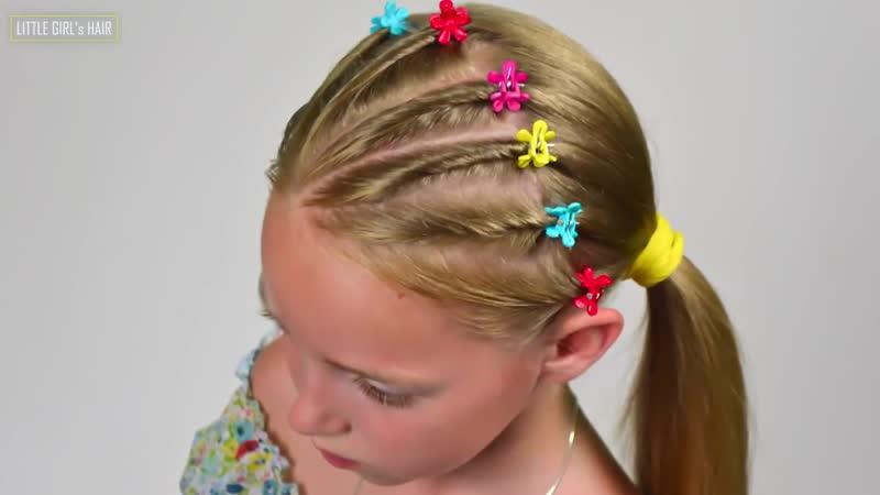 5-min Elegant Twist Braids Hairstyle ★ EASY Summer Updo HAIRSTYLES (Little girl