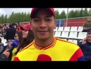 Los hinchas de la Selección en Kazán