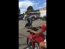 Quem poderia interromper esse show ilegal de acrobacias de moto