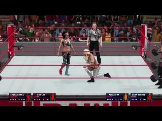 WWE 2K18 RAW BAYLEY  SASHA BANKS VS DA