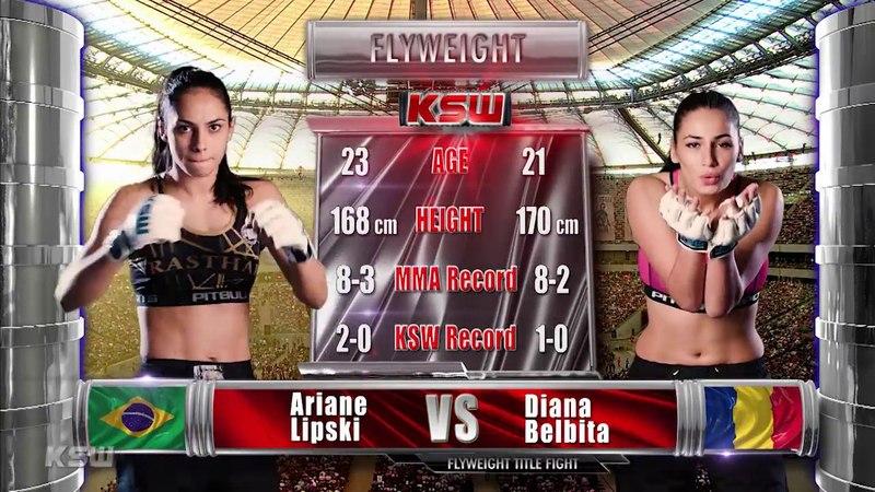 KSW Free Fight Ariane Lipski vs Diana Belbita at KSW 39
