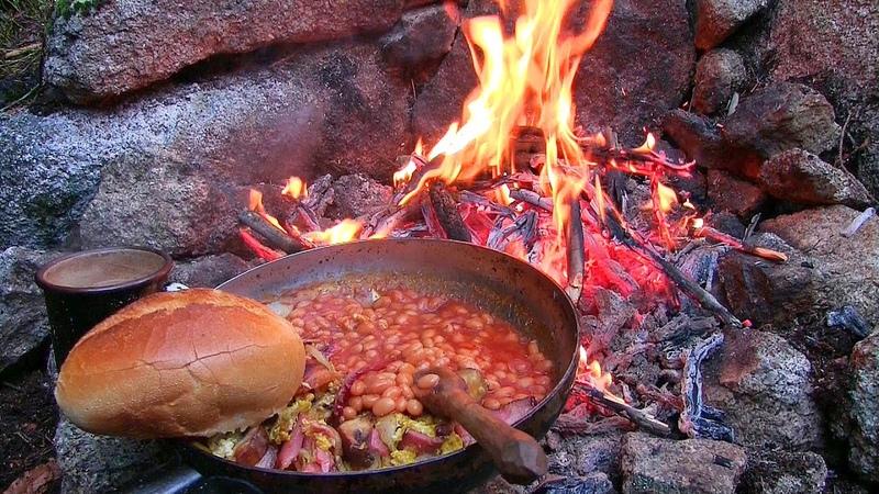 English Breakfast Bushcraft Camp Kitchen