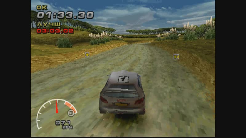 WRC FIA WORLD RALLY CHAMPIONSHIP ARCADE TIME TRIAL PEUGEOT 206 WRC PS1 2002
