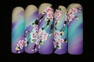 Как нарисовать на ногтях китайскую розу Сайт о рисовании.