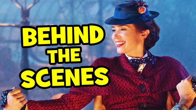 Behind The Scenes on MARY POPPINS RETURNS - Movie B-Roll, Clips Bloopers