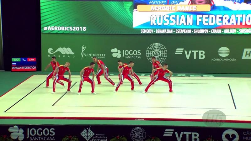 Russian Federation (RUS) - 2018 Aerobic Worlds, Guimaraes (POR) - Dance Qualifications