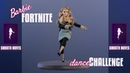 Barbie Fortnite Dance Challenge - Smooth Moves - Stopmotion Animation - Barbie Curvy Yoga MTM Doll