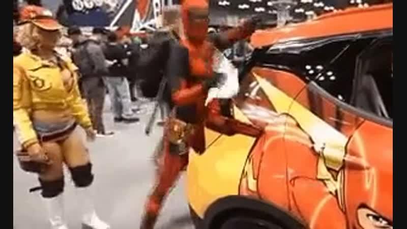 Deadpool (Дэдпул на комик коне) Правильная мойка авто