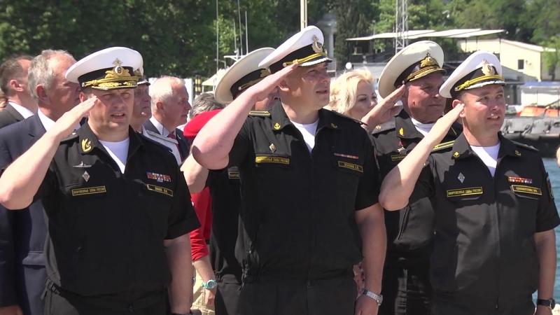 Поднятие флага на МРК Вышний Волочек » Freewka.com - Смотреть онлайн в хорощем качестве