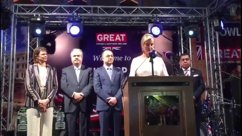 The Countess of Wessex attended The Queen's Birthday Party hosted by the British Embassy in Lebanon