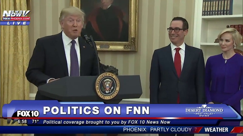 Donald Trump Speaks Before Steven Mnuchin is Sworn in As Secretary of Treasury (FNN)