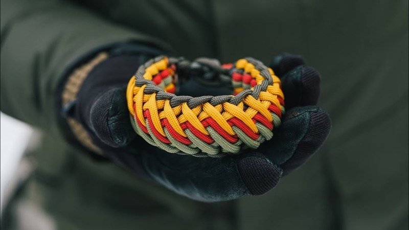 How To Make a TaoTao Falls Paracord Bracelet Knot and Loop No Buckles