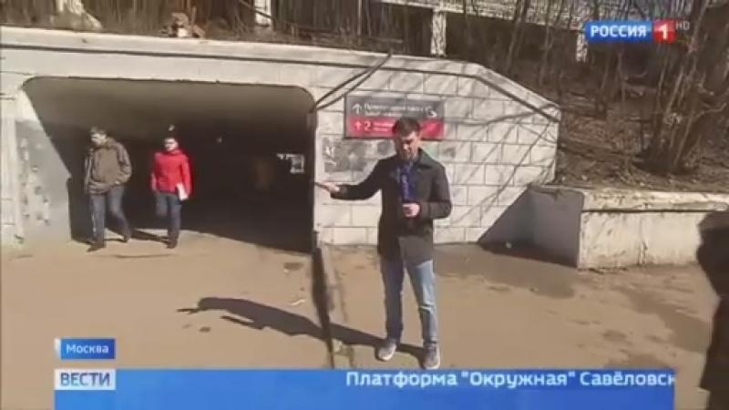 Вести-Москва • Здесь все ездят: заезд в пешеходном тоннеле автохамы сняли на видео