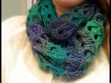 Broomstick Lace Infinity Scarf Tutorial. Брумстик.