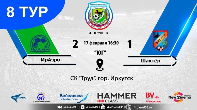 Обзор матча ИрАэро Шахтёр 2 1 17 02 2019