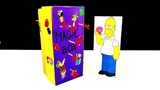 DIY How to make magic box from cardboard, funny trick with Homer Simpson )