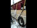 В Якутии из-за гололеда автобус слетел с трассы