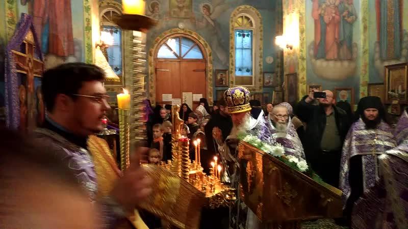 Последнее поклонение Кресту архимандрита Иоанна 26.09.2017
