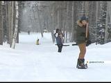 На горнолыжном комплексе в Дивногорске открыли новый подъемник