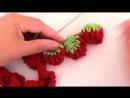 Crochet en punto 3D guirnaldas esferas fresas de una tira tejido tallermanualper