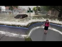 Weather Channel Hurricane Florence storm surge graphics (Erika Navarro) (augmented reality)