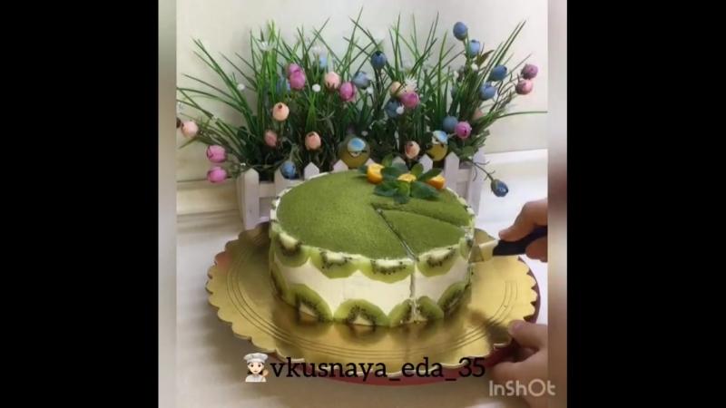 Блинный торт из чая-matcha