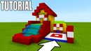 Minecraft: How To Make Bouncy House With a Water Slide Fun House Tutorial 2019