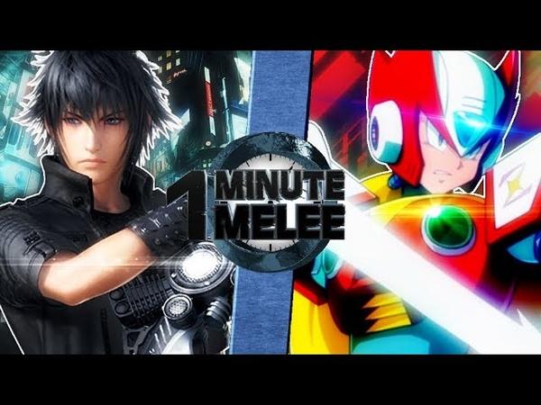 Noctis vs Zero (Final Fantasy vs Mega Man) - One Minute Melee S6 EP13