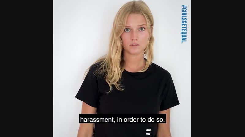 Toni Garrn takes action for gender equality - 2019