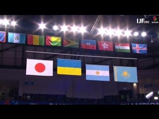 Гімн України в Баку на честь феноменальної Дар'ї Білодід