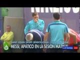 FOOTBALLSPY - Messi entrena con sueño y sin ánimo antes de la final de Copa contra el Madrid | 2014