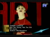 aaron carter - not too young,not too old mtv asia