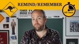 Remind or remember 60-second grammar Canguro English