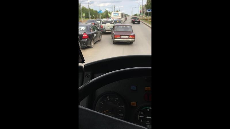 Авария из шести машин