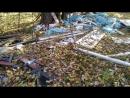 Свалка мусора в пойме Клязьмы в дубовой роще