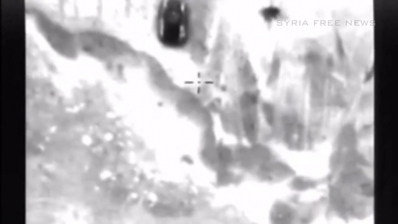 Strikes of Russian aerospace force on vehicles of Jabhat al-Nusra