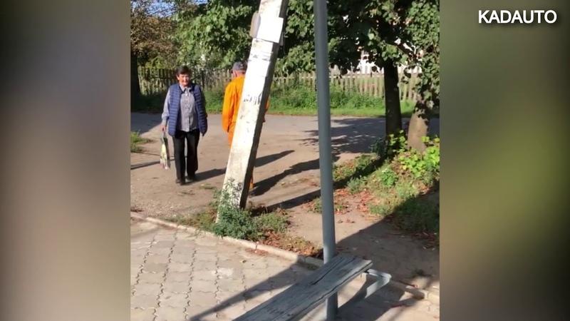 Нужен пешеходный переход? Нарисуй! Тенистая аллея. Калининград.
