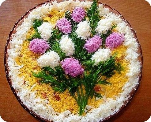 Красивые салаты с фото и рецептами
