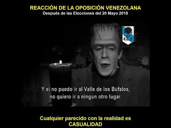 Reacción de la Oposición Venezolana si no ganan las Elecciones Presidenciales de 2018.