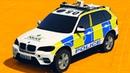 Полицейские Машины Спортивные и Джипы Мультики про Машинки для Детей - Прыжки с Парашюта в воду