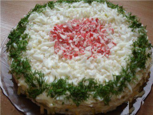 Вафельный торт *Крабовый рай*