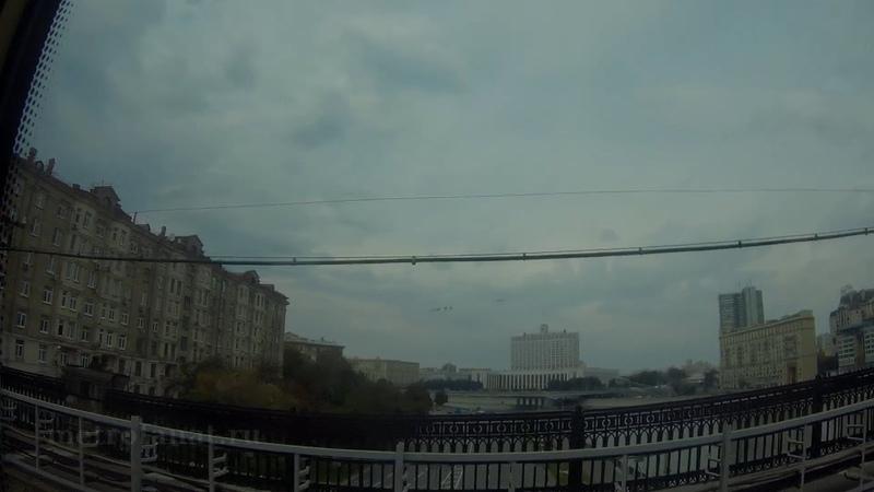 Вся Филёвская линия метро Участок Международная Александровский сад