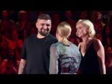 Баста и Полина Гагарина на шоу Голос