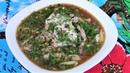 Окрошка по-татарски -почти диетическая,сытная и очень вкусная.