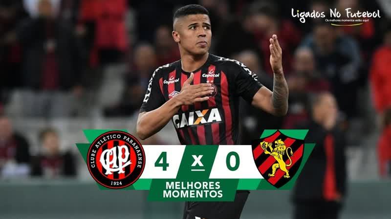 Atlético-PR 4 x 0 Sport - Gols Melhores Momentos COMPLETO - Brasileirão Série