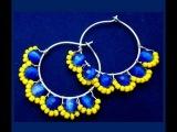 Blue Daisy Earrings Wire Jewelry Video Tutorial